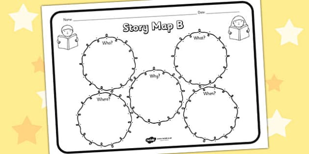 Story Map B Worksheet story map B story stories story map – Story Map Worksheet