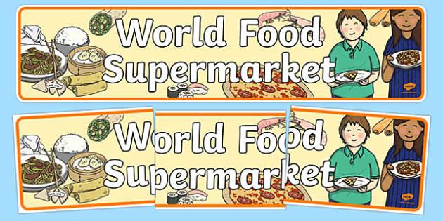 World Food Supermarket Display Banner - world food supermarket, display banner, display, banner