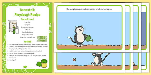 EYFS Playdough Recipe and Mat Pack to Support Teaching on Jasper's Beanstalk - EYFS, malleable, physical, moving and handling, fine motor skills, Mick Inkpen, Nick Butterworth, plants, growing