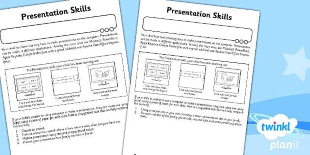 PlanIt Computing Y2 Presentation Skills Unit Home Learning Tasks