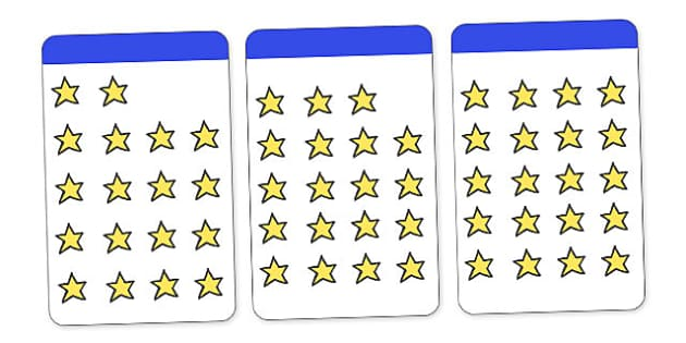 Count the Stars Activity Cards (1-20) - education, home, free