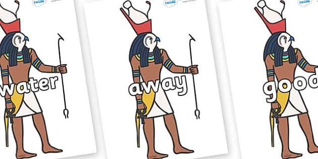 Next 200 Common Words on Egyptian Gods - Next 200 Common Words on  - DfES Letters and Sounds, Letters and Sounds, Letters and sounds words, Common words, 200 common words
