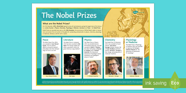 The 2016 Nobel Laureates Poster