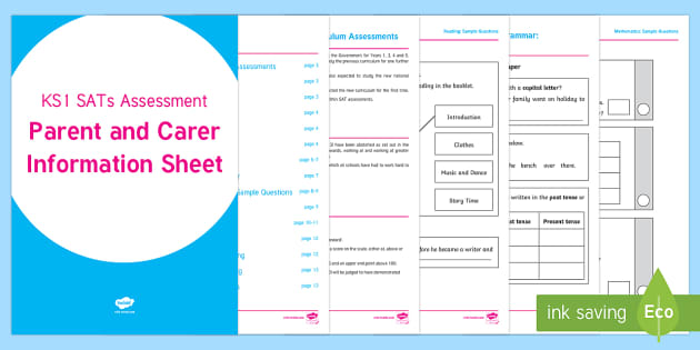 Survival: 2017 KS1 SATs Assessment Parent and Carer Information Sheet ...