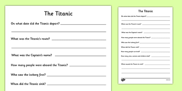 The Titanic Research Writing Frames - the titanic research writing frames, titanic, research, writing frames, the titanic, ship, writing template, writing frames, word cards, flashcards, template
