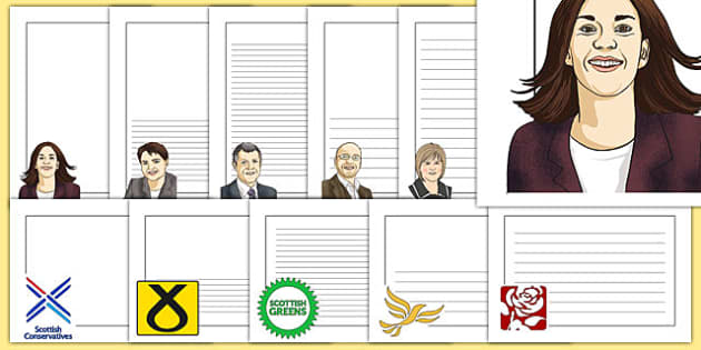 Scottish Elections 2016 Page Borders - CfE, Scotland, politics, government, parliament, elections, voting
