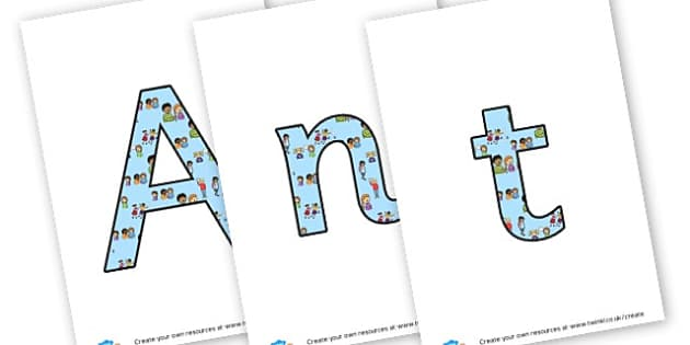 Anti bullying - display lettering - KS2 Display, PSHE, Bullying and Discrimination, KS2 PSHE, bullying