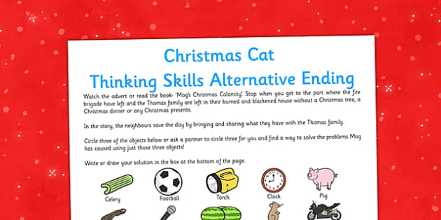 Christmas Cat Thinking Skills Alternative Ending - mog, christmas cat, christmas, cat, skills, alternative