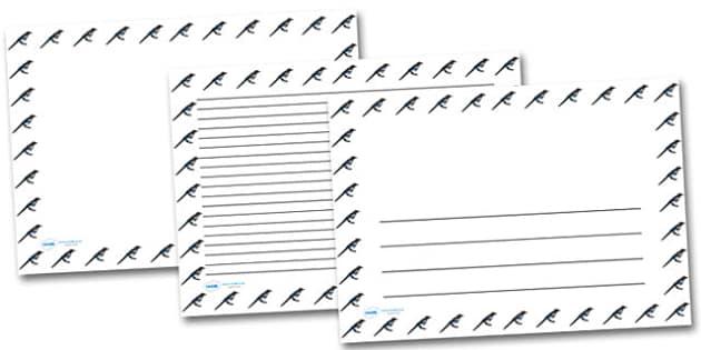 Magpie Landscape Page Borders- Landscape Page Borders - Page border, border, writing template, writing aid, writing frame, a4 border, template, templates, landscape