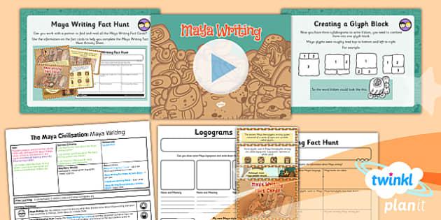 PlanIt - History UKS2 - The Maya Civilisation Lesson 5: Maya Writing Lesson Pack