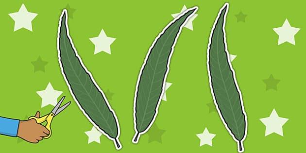 Leaf Display Cut Outs - displays, cut outs, leafs, display, leaf