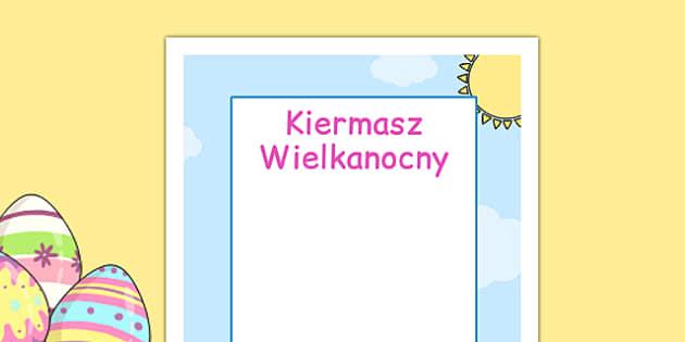 Plakat do edytowania Kiermasz Wielkanocny po polsku - wydarzenia