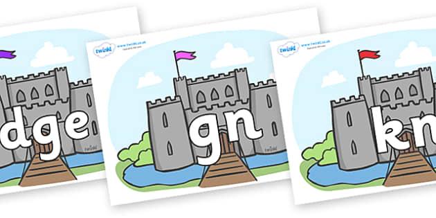 Silent Letters on Castles - Silent Letters, silent letter, letter blend, consonant, consonants, digraph, trigraph, A-Z letters, literacy, alphabet, letters, alternative sounds