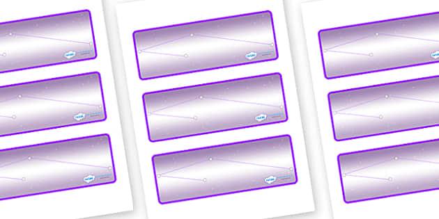 Chameleon Star Constellation Themed Editable Drawer-Peg-Name Labels (Blank) - Themed Classroom Label Templates, Resource Labels, Name Labels, Editable Labels, Drawer Labels, Coat Peg Labels, Peg Label, KS1 Labels, Foundation Labels, Foundation Stage