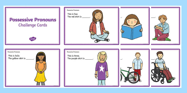 Possessive Pronouns His And Hers Fill In The Sentence Cut Out Cards