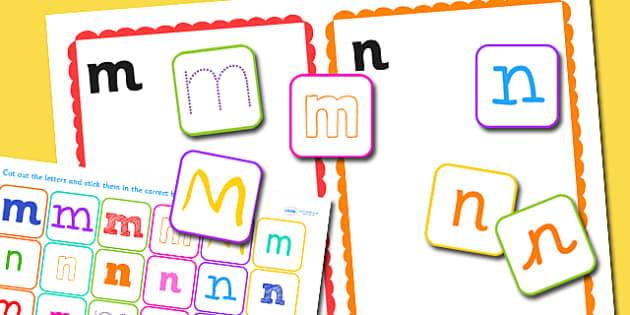m and n Confusing Letter Sorting Activity - letters, sorting