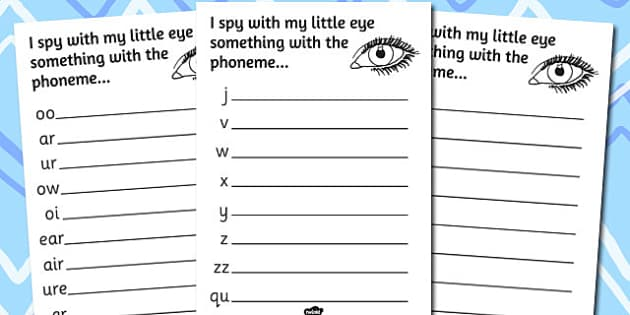 Phase 3 Phoneme Hunt Activity Sheet Pack - activity, sheets, phoneme, worksheet