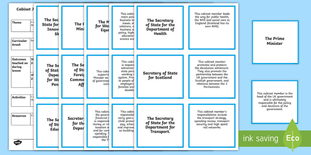 Cabinet Roles Matching Cards - CfE Social Studies resources,Scottish, cabinet ministers, politics, democracy, People in society, ec