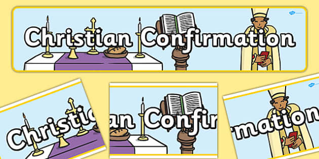 Christian Confirmation Display Banner - display banner, display