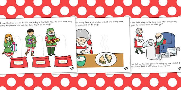 Santas Busy Christmas Eve Fine Motor Skills Story - australia