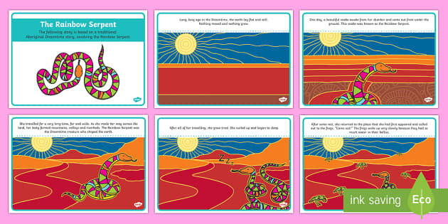 The Rainbow Serpent Story Cards