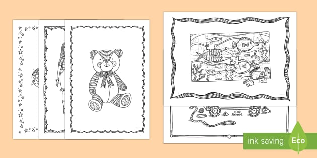 Toys Mindfulness Colouring Pages