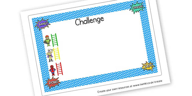 Challenge Differentiated - Superheroes Activities Primary Resources,  Superheroes, Activities