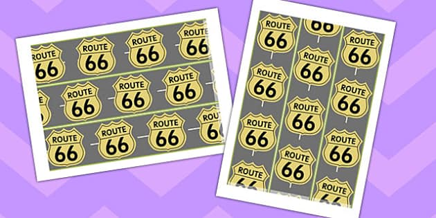 Route 66 Display Border - route 66, display borders, display, border