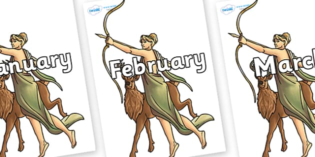 Months of the Year on Artemis - Months of the Year, Months poster, Months display, display, poster, frieze, Months, month, January, February, March, April, May, June, July, August, September