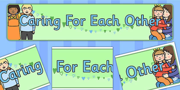 Caring for Each Other Display Banner - display, banner, caring