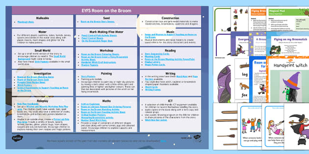 Room on the Broom EYFS Enhancement Ideas and Resources Pack - Early Years, continuous provision, early years planning, adult led, Julia Donaldson, witch, magic, Halloween