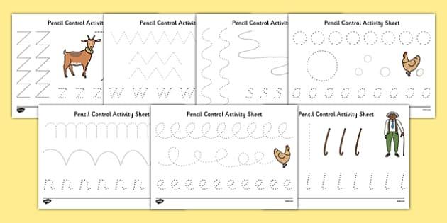 A Tight Squeeze Pencil Control Sheets - a squash and a squeeze, julia donaldson, a tight squeeze, pencil control