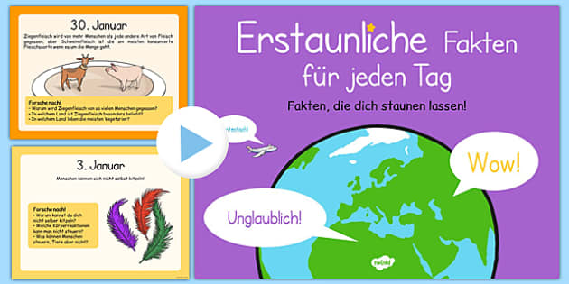 An Amazing Fact a Day January German - german, research, prompts, facts, factoids, trivia, did you know, daily