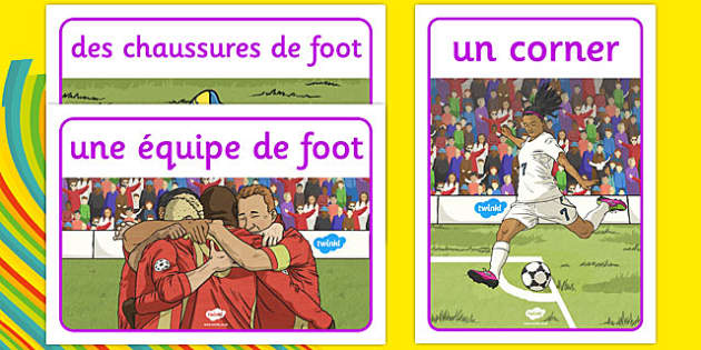 Rio 2016 Olympics Football Display Posters French - french, Football, Olympics, Olympic Games, sports, Olympic, London, 2012, display, banner, poster, sign, activity, Olympic torch, events, flag, countries, medal, Olympic Rings, mascots, flame, compe
