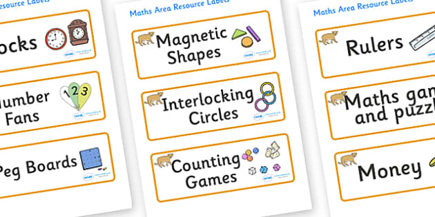 Puma Themed Editable Maths Area Resource Labels - Themed maths resource labels, maths area resources, Label template, Resource Label, Name Labels, Editable Labels, Drawer Labels, KS1 Labels, Foundation Labels, Foundation Stage Labels, Teaching Labels