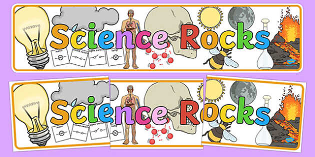 Science Rocks Display Banner - science, rocks, display, banner