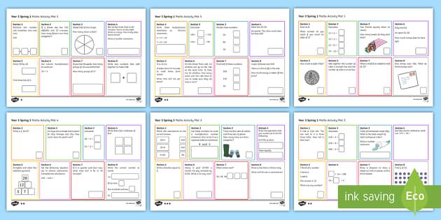 Year 3 Spring 1 Maths Activity Mats - Year 3 Spring 1 Maths Activity Mats, year 3 maths, year 3 activity mats, y3, maths skills, independe