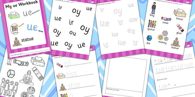Phase 5 ue Grapheme Workbook - phase five, graphemes, literacy