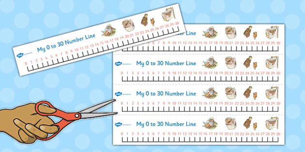 The Tale of Mrs Tiggy Winkle Number Lines 0-30 - mrs tiggy winkle