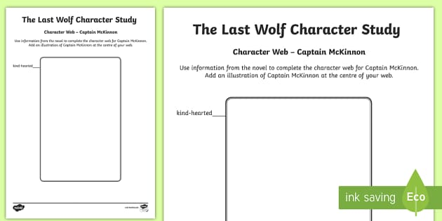 Captain McKinnon Character Web to Support Teaching on The Last Wolf by Michael Morpurgo - CfE, novel study, Michael Morpurgo, The Last Wolf, reading activity, character study,comprehension,