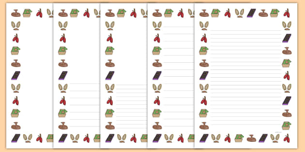 The Story Of Chocolate Page Borders - Chocolate, Page Borders, Chocolate Page Borders, The Story Of Chocolate, Chocolate Writing Frames
