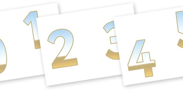 0-9 Display Numbers (Seaside) - Display numbers, 0-9, numbers, display numerals, seaside, sea, holiday, display lettering, display numbers, display, cut out lettering, lettering for display, display numbers