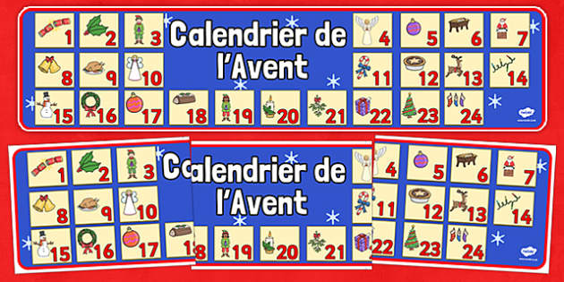 Advent Christmas Display Banner French - french, advent, christmas, display banner, display, banner