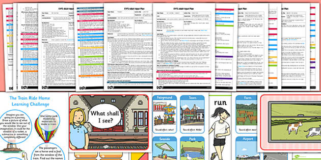 EYFS Adult Input Planning and Resource Pack to Support Teaching on The Train Ride  - train ride, planning, pack