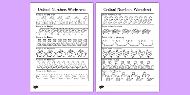 Ordinal Numbers Activity Sheet - ordinal, numbers, worksheet, number