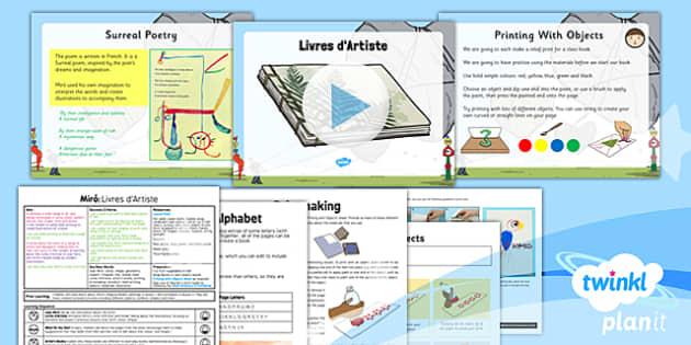PlanIt - Art KS1 - Miro Lesson 3: Artist Books Lesson Pack - planit