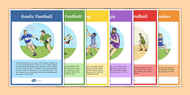 Games of the GAA Info Display Posters - GAA, sport, games, ireland, traditions, display, football, hurling, rounders, handball, camogie, history
