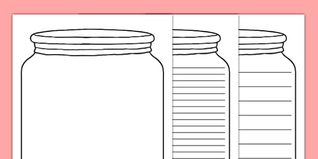 Dream Jar Writing Template