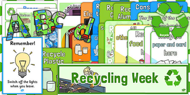 Recycle Week Display Pack - recycle, week, display pack, pack