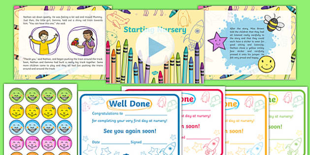 EYFS Starting Nursery Editable PowerPoint Story and Resource Pack